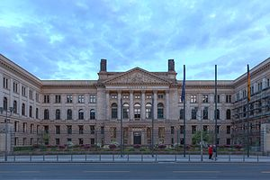 Bundesrat of Germany - The House of Lords of Prussia on Leipziger Straße, seat of the Bundesrat.