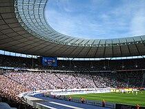 Berlin Olympiastadion during footballmatch hertha bsc berlin vs borussia dortmund 02 20070421.jpg