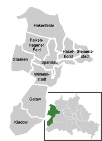 District map of Spandau