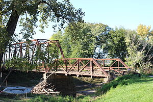 National Register of Historic Places listings in Fulton County, Illinois - Image: Bernadotte Bridge, Bernadotte Illinois