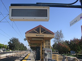 Berryessa station (VTA) - Berryessa Station platform, 2012
