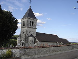 Bertignolles - Image: Bertignolles église