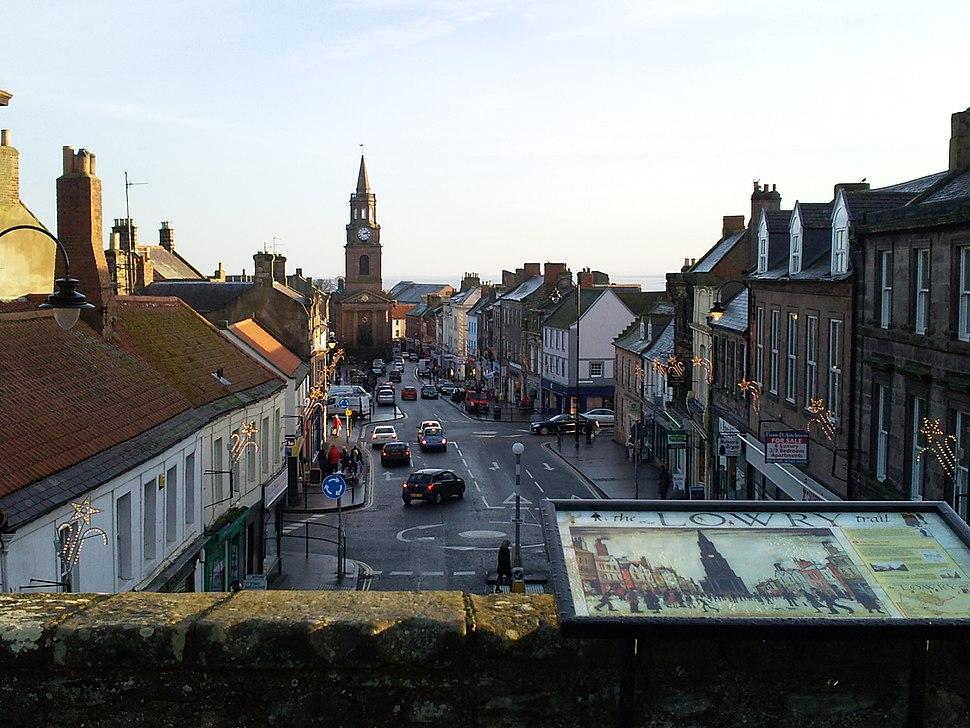 Berwick Town In Winter