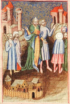 Česky: Tvrz na iluminaci z Bible Václava IV. E...