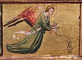 Bicci di lorenzo, madonna col bambino e santi, da s. martino a uzzano, 06 angelo.JPG