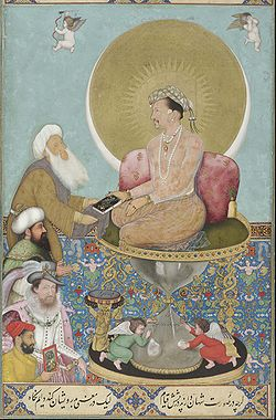 Bichitr - Jahangir preferring a sufi sheikh to kings.jpg