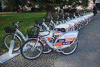 Bikes rent station, Opole.jpg