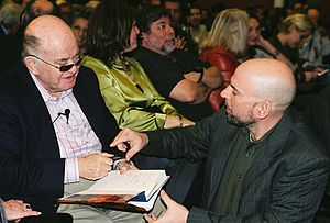 Bil Herd - Bil Herd (right) speaks to Jack Tramiel at the 25th Anniversary of the Commodore 64 at the Computer History Museum in 2007.