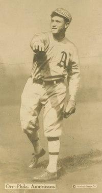 Bill Orr, Philadelphia Athletics, baseball card portrait LCCN2007685738 (cropped).tif