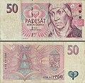 Billete de cincuenta coronas checas de 1997.jpg