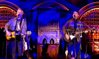 Billy Bragg - Bragg with Joe Henry at the Union Chapel, Islington