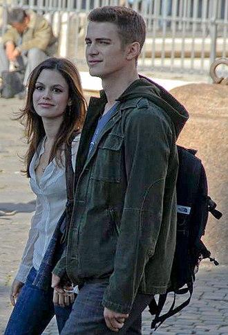 Hayden Christensen - Christensen with ex–girlfriend Rachel Bilson filming Jumper in Rome in 2006