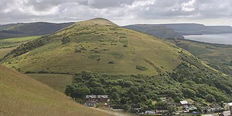 Bindon Hill - The western end of Bindon Hill, above Lulworth Cove.
