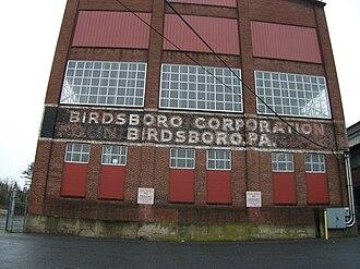 Birdsboro, Pennsylvania - The Birdsboro Corporation (formerly Birdsboro Steel Corporation) steel plant closed in 1988.