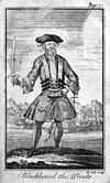 Blackbeard, as pictured by Benjamin Cole