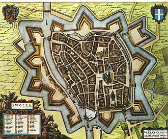 "Zwolle - Map of Zwolle by Joan Blaeu in Blaeu's ""Toonneel der Steden"", 1652"