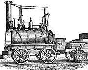 Blücher, an early railway locomotive built in 1814 by George Stephenson.