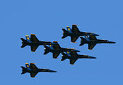 Blue Angels flying in formation1