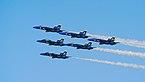 Blue Angels in delta formation at Fleet Week San Francisco 2016.jpg