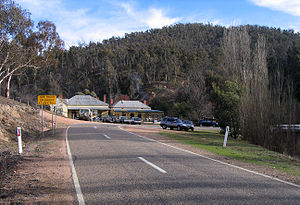 Anglers Rest, Victoria - The historic Blue Duck Inn on the Omeo Highway at Anglers Rest