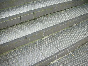 Staffordshire blue brick - Contemporary steps at Brindleyplace, Birmingham