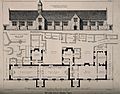 Blundell's School, Tiverton, Devon; with keyed floor plan. T Wellcome V0014548.jpg