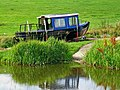 Boat on slipway near Drungewick Aqueduct, Wey and Arun Canal - geograph.org.uk - 1442444.jpg