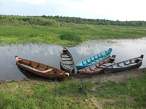 Udorsky District - Boats in Yortom village, Udorsky District