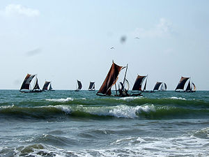 Boats near Negombo beach, Sri Lanka.jpg