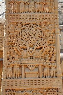 Bodhi Tree - East Face - South Pillar - East Gateway - Stupa 1 - Sanchi Hill 2013-02-21 4434.JPG