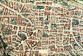 Bodleian Libraries, Map of Bologna in closeup of Joan Blaeu, Bononia Docet Mater Studiorum.jpg