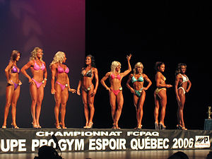 English: Line-up of Body Fitness competition.