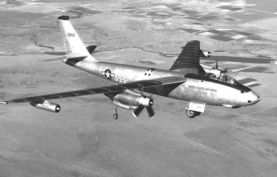 Boeing XB-47D propjet