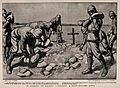 Boer War; soldiers placing stones over the graves of their c Wellcome V0015630.jpg