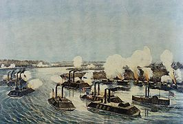 Bombardement en inname van Island Number Ten,17 april, 1862
