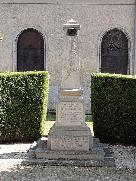 Boncourt-sur-Meuse (Meuse) monument aux morts