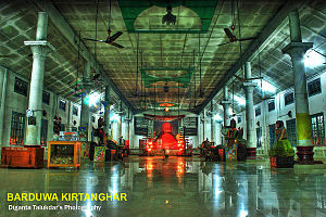 Nagaon district - Inside the main temple of Borduwa Thaan in Nagaon district of Assam