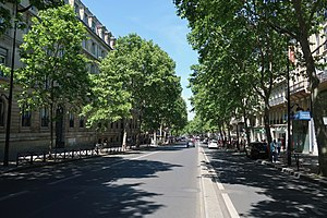 The Boulevard Saint-Michel north of the junction with the Rue de Vaugirard (looking north)