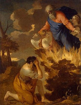 Burning bush - Burning bush. Painting from Hermitage Museum, Saint Petersburg