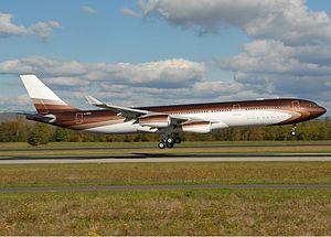 Alisher Usmanov - Image: Bourkhan Airbus A340 313X Roman Abramovich Nussbaumer