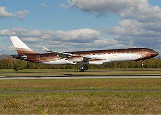 Alisher Usmanov - A340-313X of Alisher Usmanov named Bourkhan at Euroairport (2008).