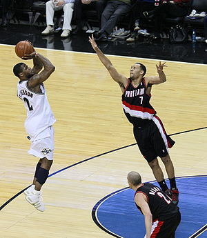 Brandon Roy - Brandon Roy defending DeShawn Stevenson in a game