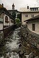 Brenner-Gossensass, de Eisack met de Pfarrkirche zum Unbefleckten Empfängnis op de achtergrond Dm14079 IMG 1004 2019-08-02 18.42.jpg