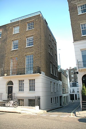Brian Epstein - 24 Chapel Street, London, where Epstein lived, and later died