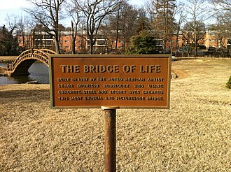 Dionicio Rodriguez - Image: Bridge of Life sign