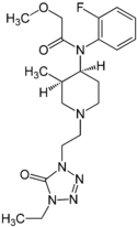 Chemical structure of Brifentanil.