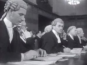 Corfu Channel case - Image: British legal team in the Corfu Channel case