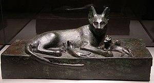Pest control - Bronze cat, Ancient Egypt. (664–525 BC)