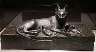 Pest control - Bronze cat, Ancient Egypt. (664–525 BC)