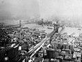 Brooklyn and Manhattan Bridge, New York City Skyline, New York, photo by Irving Underhill, 1916 (25236094020).jpg